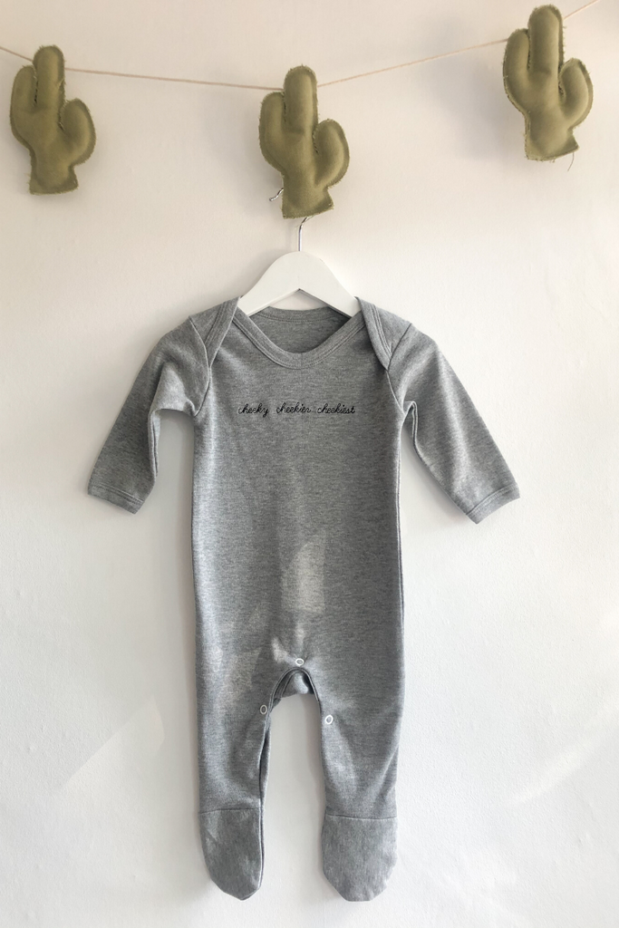 Cheeky Long Sleeve Romper Grey