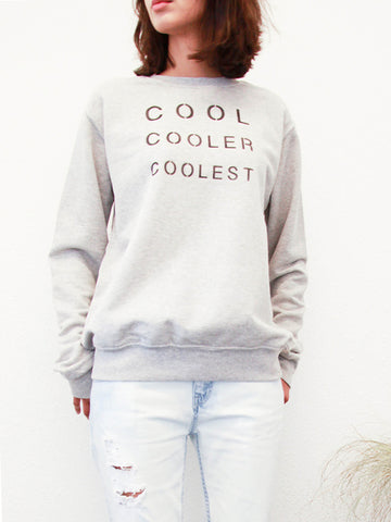 cool cooler coolest printed unisex sweatshirt by the english tee shop