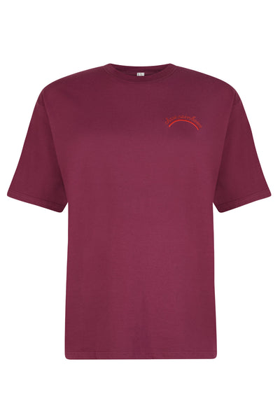 CHASE RAINBOWS BURGUNDY TEE BY THE ENGLISH TEE SHOP