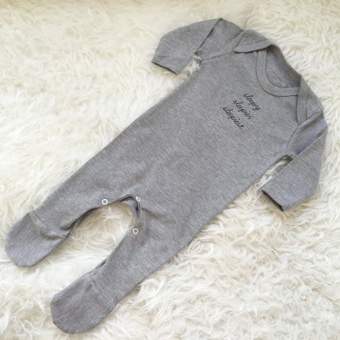 sleepy sleepier sleepiest romper by the english tee shop