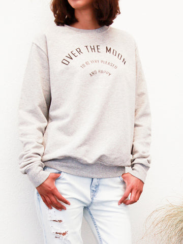 over the moon unisex sweatshirt by the english tee shop