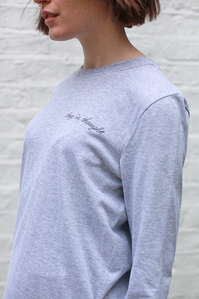 DEEP IN THOUGHT LONG SLEEVE TEE BY THE ENGLISH TEE SHOP