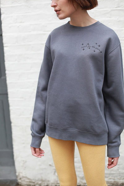 REACH FOR THE STARS UNISEX SWEATSHIRT BY THE ENGLISH TEE SHOP