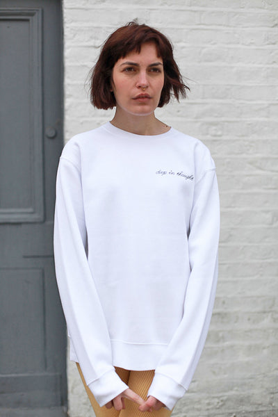 DEEP IN THOUGHT UNISEX SWEATSHIRT BY THE ENGLISH TEE SHOP