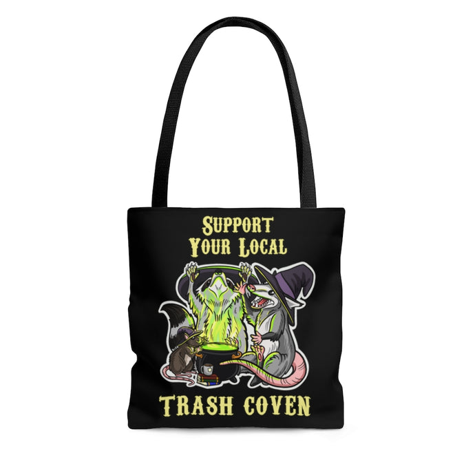 Support Your Local Trash Coven Witchy AOP Tote Bag