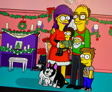 Simpsons Style Family Portrait Commissions