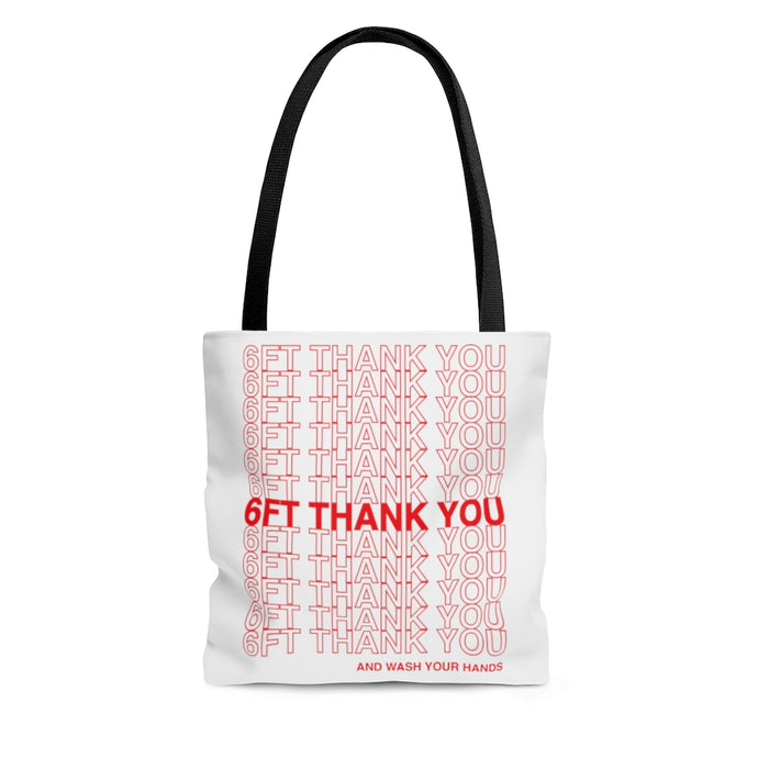6ft Thank You Social Distancing grocery bag inspired Tote Bag