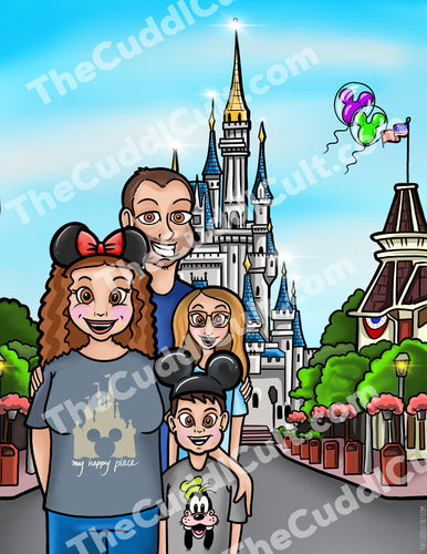 Disney Style Family Portrait Commissions