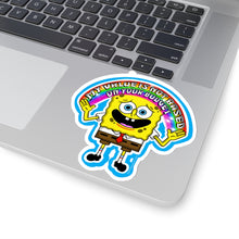 My Value is Not Based on Your Budget Spongebob Kiss-Cut Stickers