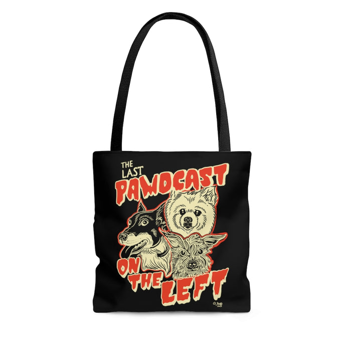 Last Pawdcast on the Left Tote Bag