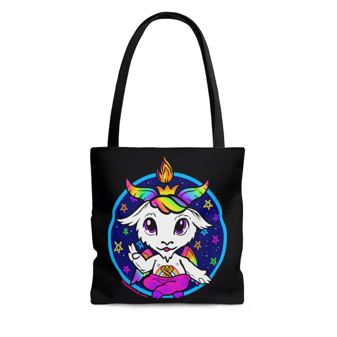 Rainbow Baphomet Tote Bag
