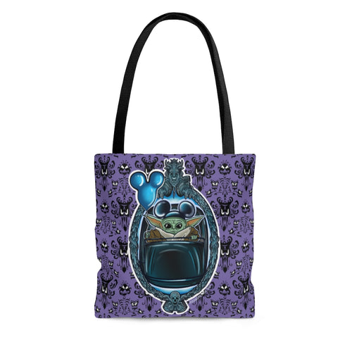 Baby Yoda Haunted Mansion All Over Print Tote Bag