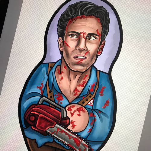 Ash Williams from Evil Dead Inspired Plush Doll or Ornament