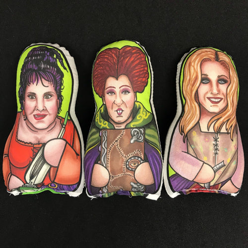 Sanderson Sister set of 3 Inspired Hocus Pocus Plush Doll or Ornament
