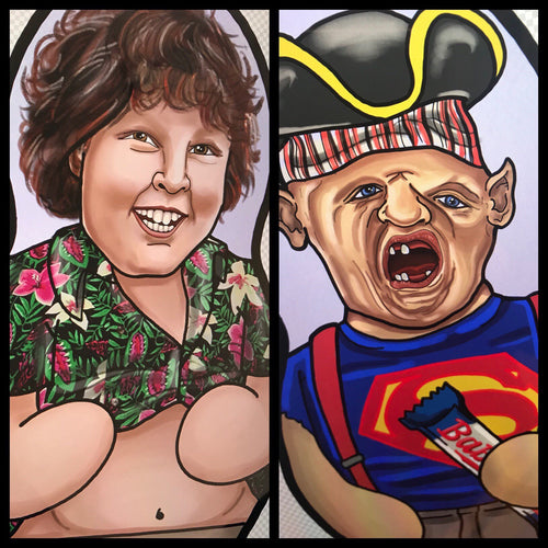 Sloth and Chunk Goonies Inspired Plush Doll or Ornament Set