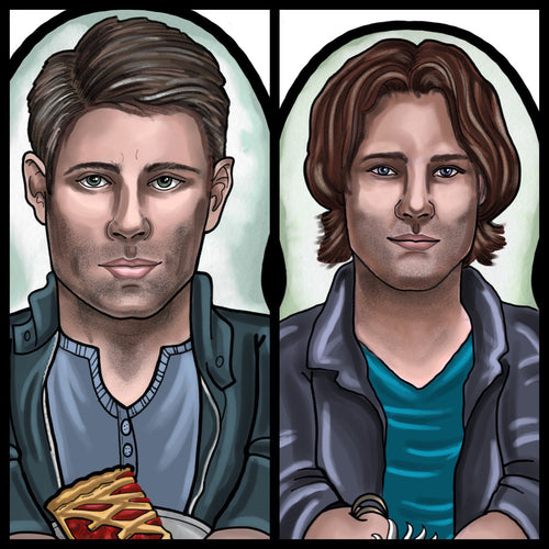 Sam and Dean set Inspired Plush Doll or Ornament