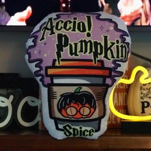 Accio Pumpkin Spice Minky PSL Pillow