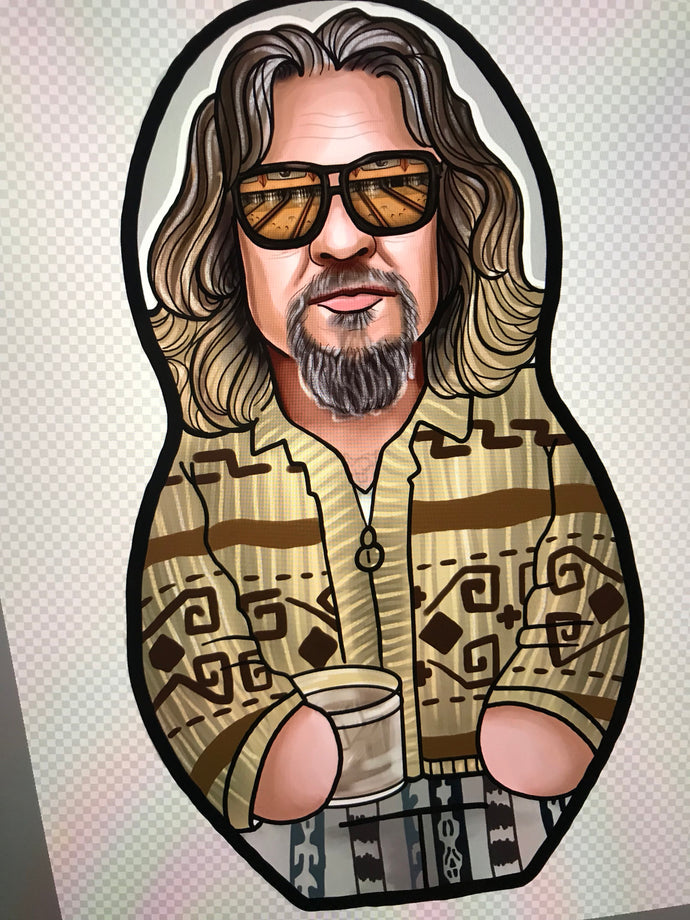 The Dude of The Big Lebowski Inspired Plush Doll  or Ornament
