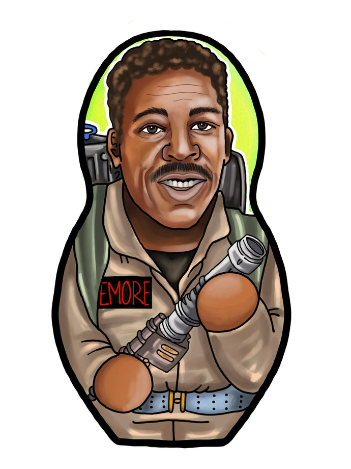Winston Zeddemore Ernie Hudson Ghostbusters Inspired Plush Doll or Ornament