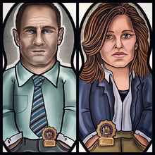 Benson and Stabler Law and Order SVU Inspired Plush Doll or Ornament Set