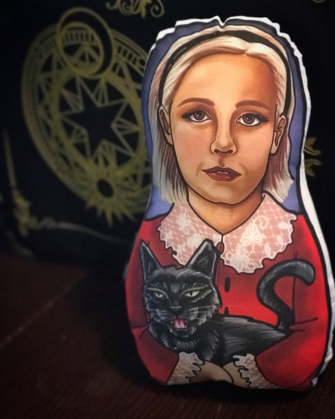 Sabrina Spellman Teenage Witch Inspired Plush Doll  or Ornament