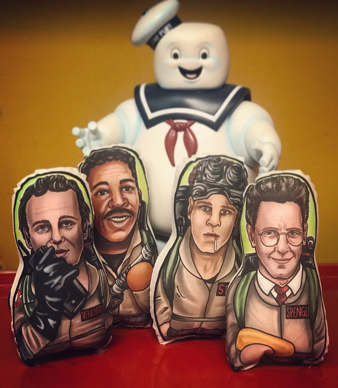 Ghostbusters Inspired Plush Doll or Ornament Set