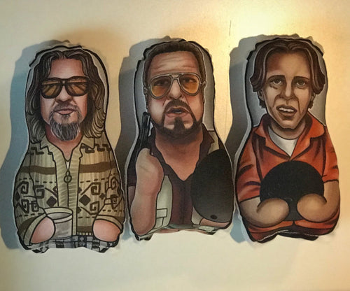The Big Lebowski Dude Donnie Walter set Inspired Plush Doll or Ornament