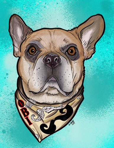 Hand Drawn Animal/Pet Portrait High Resolution Digital Print