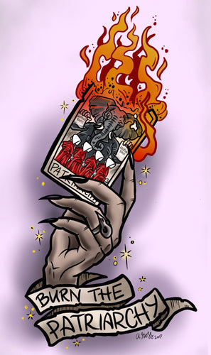 Burn the Patriarchy Witchy Tarot Print Or Sticker