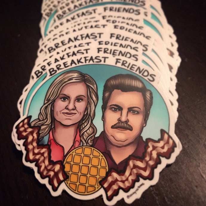 Parks and Rec Breakfast Friends Sticker