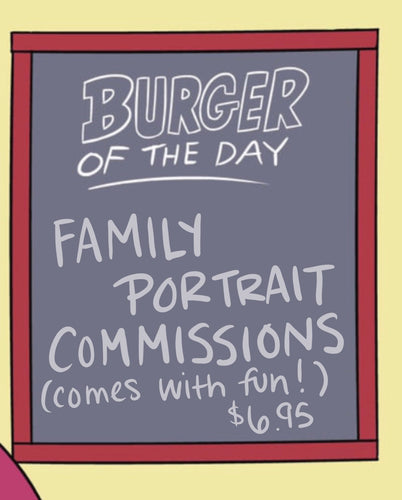 Animated Cartoon Family Portrait Commissions