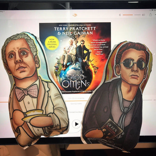 Crowley and Aziraphale Good Omens Inspired Plush Doll or Ornament Set