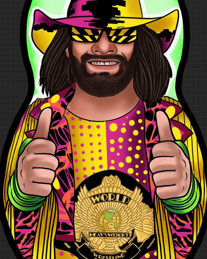 Macho Man Wrestling Inspired Plush Doll or Ornament