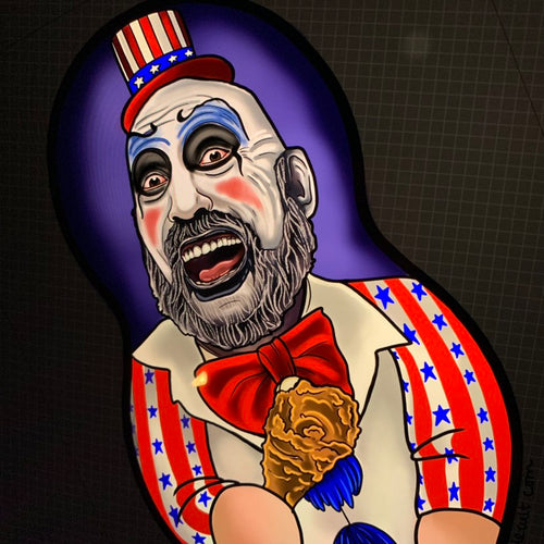 Captain Spaulding Inspired Plush Doll or Ornament