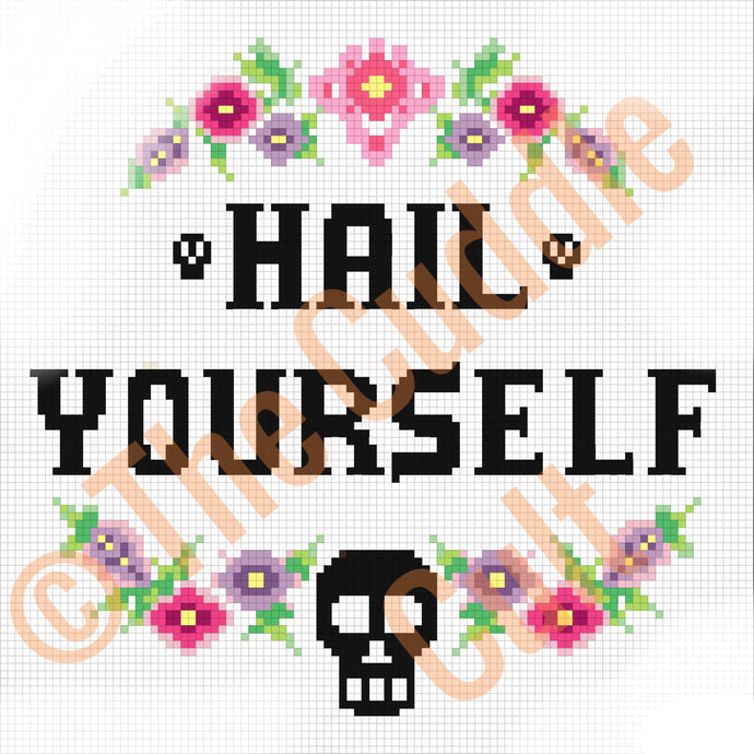 Hail Yourself Cross Stitch Pattern pdf