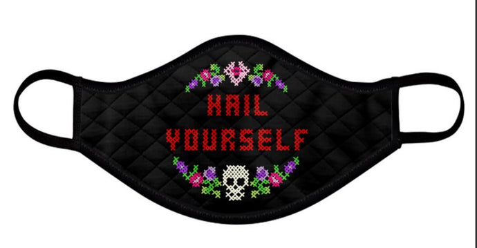 Hail Yourself Cross Stitch Inspired face Masks
