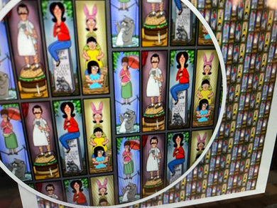 Bobs Burgers Haunted Mansion Portraits Pleated face Masks