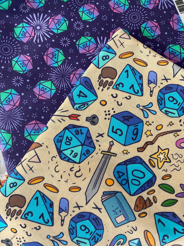 D20 Dice Dungeons and Dragons Pleated face Masks 2 designs