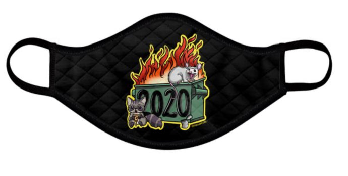 CLEARANCE Dumpster Fire 2020 face Masks