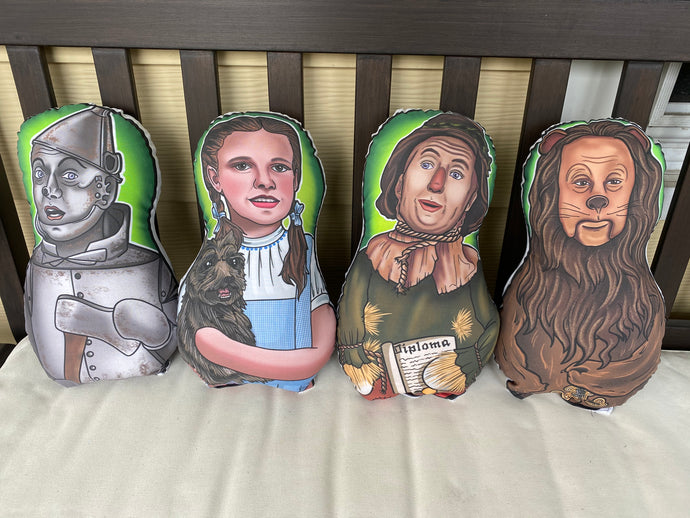Wizard of Oz Inspired Plush Dolls or Ornament Set or Individual