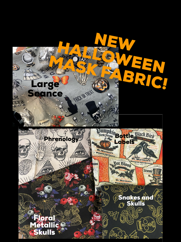 Halloween Themed Pleated face Masks 4 Styles
