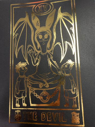 "Bobs Burgers Tarot Louise ""The Devil"" Inspired Foil Art Print 8.5"