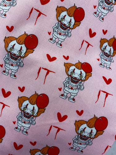 Pennywise You're It Horror Valentines Pleated face Masks