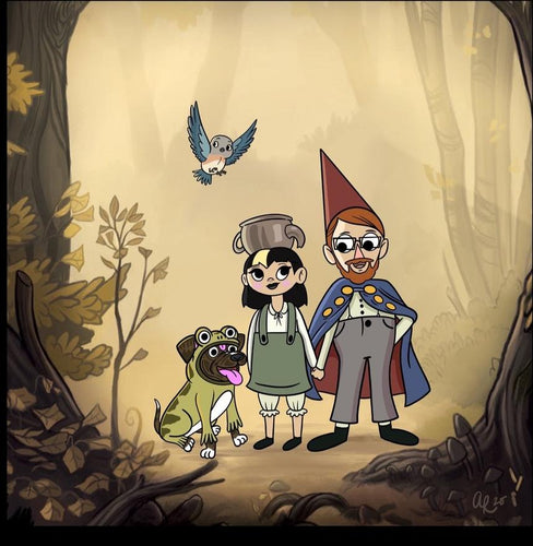 Over the Garden Wall Style Family Portrait Commissions