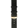 Black calf's leather strap