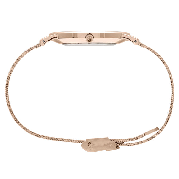 Slim Minimalist All Rose Gold Watch Men's & Women's Mesh Strap - Mark 1 - Kensington - 38mm