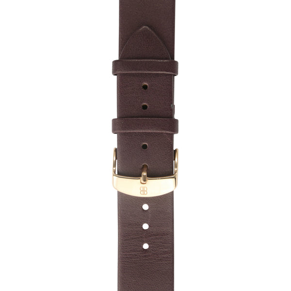 Dark Brown calf's leather strap