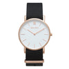 Men's & Women's Thin Rose Gold Watch Nato Strap - Mark 1 - Compton - 38mm