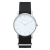 Men's & Women's Thin Silver Watch Nato Strap - Mark 1 - Oxford - 38mm