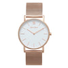 Slim Minimalist Rose Gold Watch Men's & Women's Mesh Strap - Mark 1 - Dean - 38mm